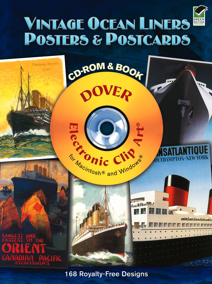 Vintage Ocean Liners Posters and Postcards CD-ROM and Book