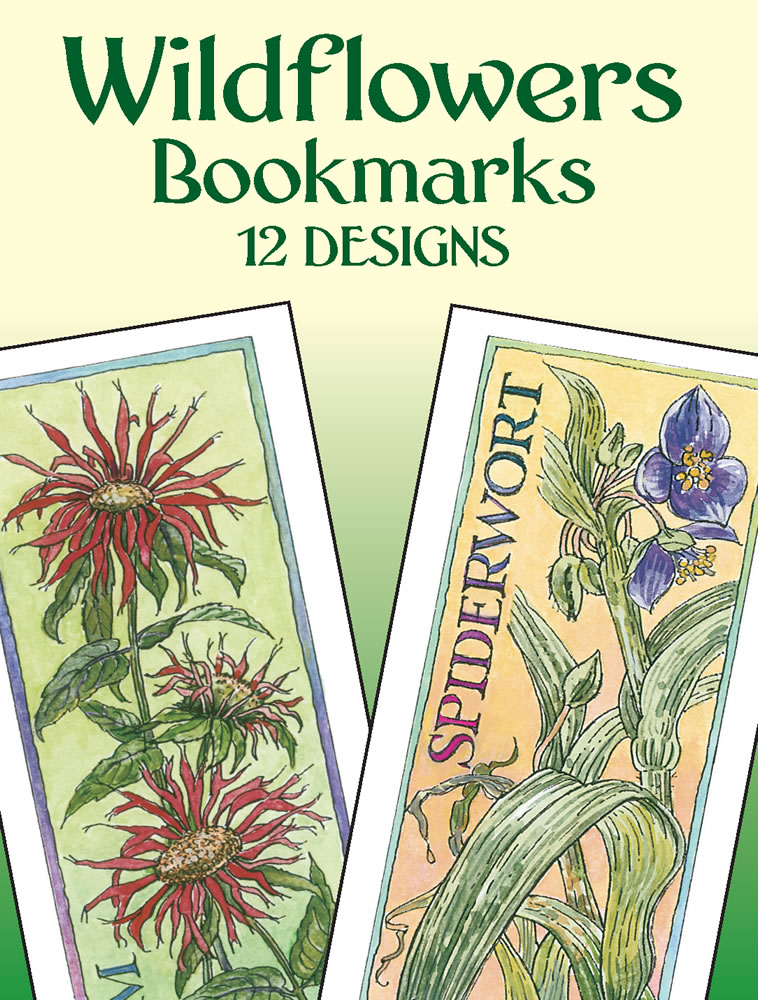 Wildflowers Bookmarks: 12 Designs