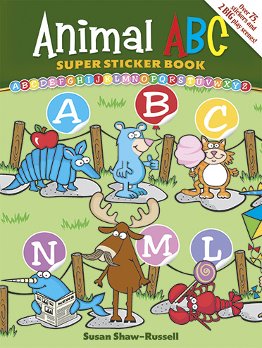 Animal ABC Super Sticker Book