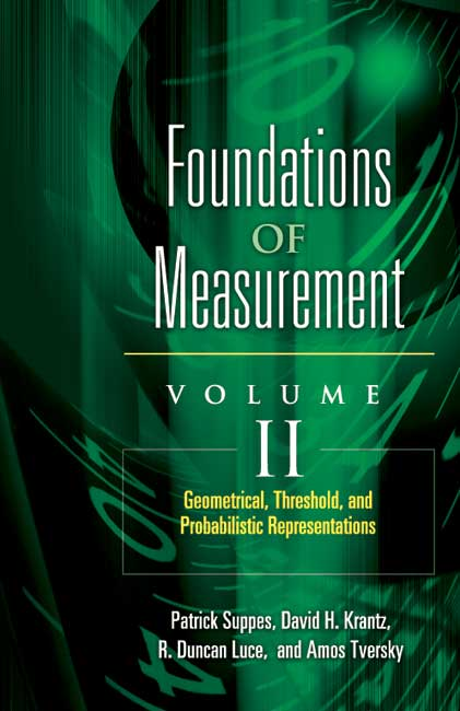 Foundations of Measurement Volume II: Geometrical, Threshold, and Probabilistic Representations