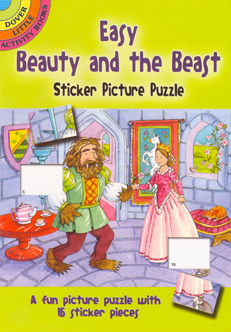 Easy Beauty and the Beast Sticker Picture Puzzle