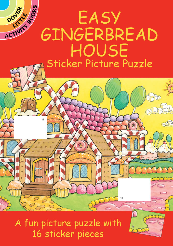 Easy Gingerbread House Sticker Picture Puzzle