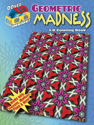 3-D Coloring Book - Geometric Madness