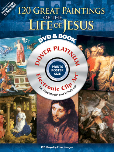 120 Great Paintings of the Life of Jesus Platinum DVD and Book