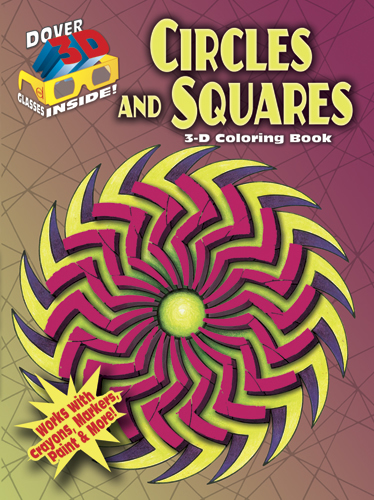 3-D Coloring Book--Circles and Squares