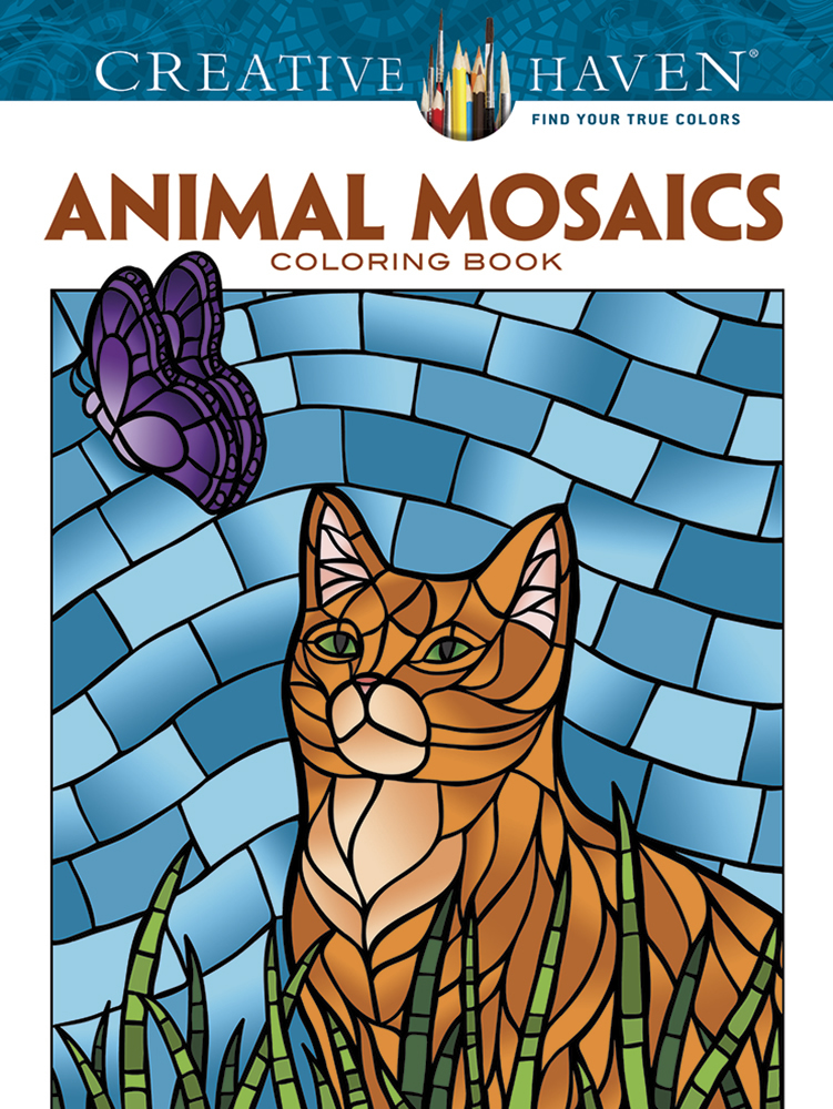 Creative Haven Animal Mosaics Coloring Book