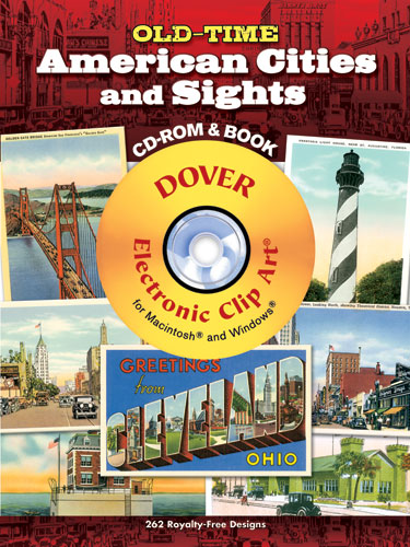 Old-Time American Cities and Sights CD-ROM and Book