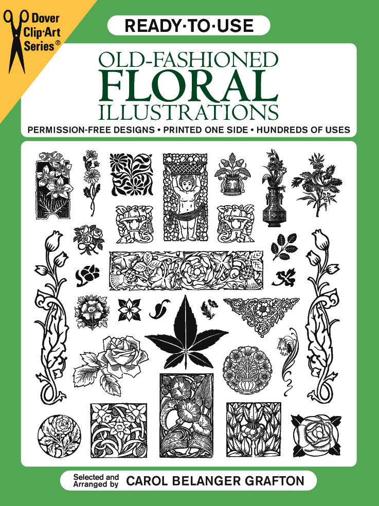 Ready-to-Use Old-Fashioned Floral Illustrations