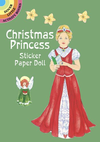 Christmas Princess Sticker Paper Doll
