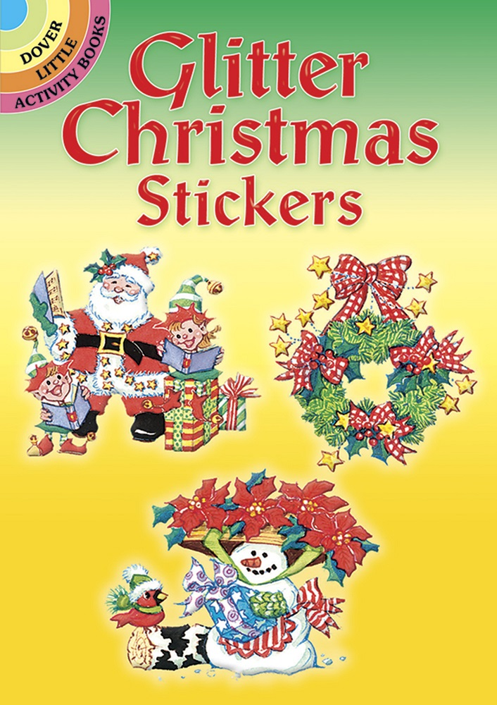 Glitter Christmas Stickers