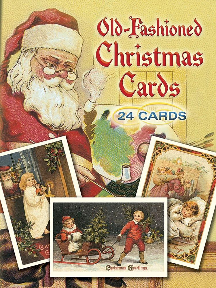 Old-Fashioned Christmas Cards: 24 Cards