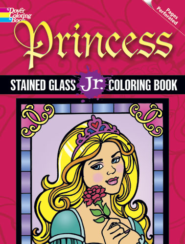 Princess Stained Glass Jr. Coloring Book