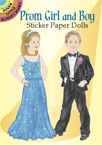 Prom Girl and Boy Sticker Paper Dolls