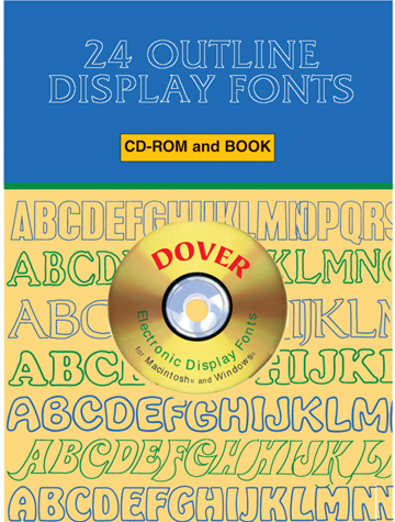 24 Outline Display Fonts CD-ROM and Book