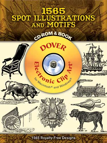 1565 Spot Illustrations and Motifs CD-ROM and Book