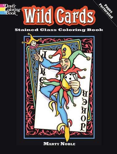 Wild Cards Stained Glass Coloring Book