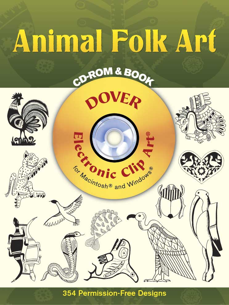 Animal Folk Art CD-ROM and Book