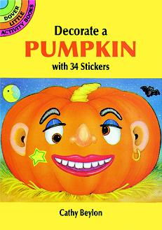 Decorate a Pumpkin with 34 Stickers