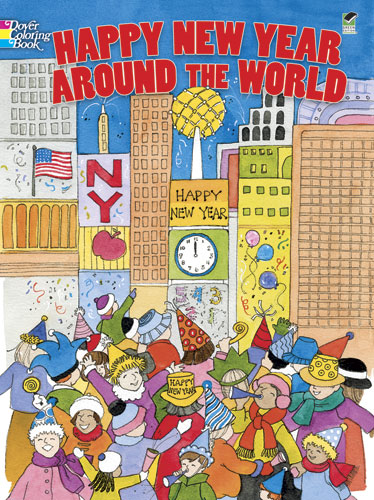 Happy New Year Around the World Coloring Book