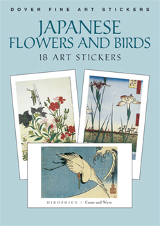 Japanese Flowers and Birds: 18 Art Stickers