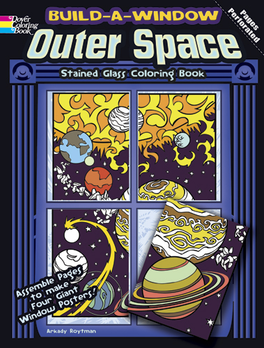 Build a Window Stained Glass Coloring Book--Outer Space