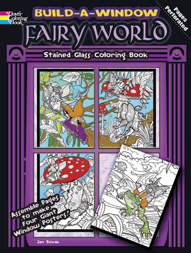 Build a Window Stained Glass Coloring Book--Fairy World