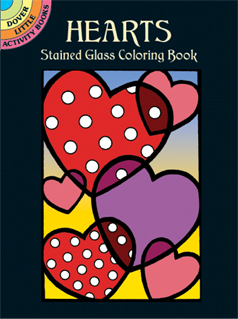 Hearts Stained Glass Coloring Book