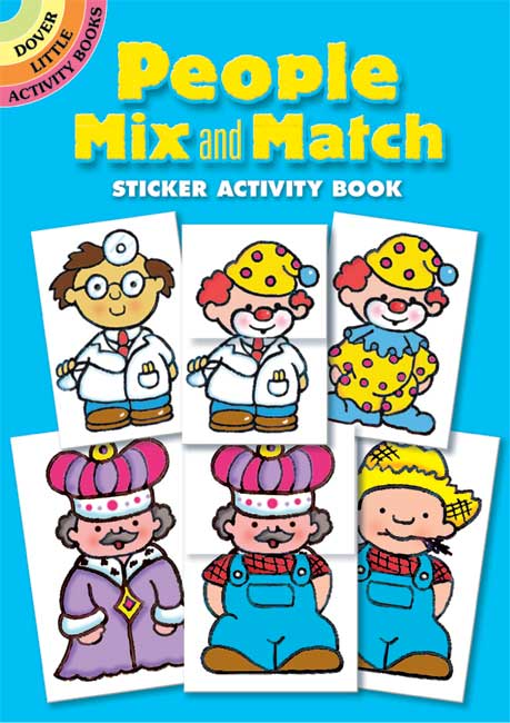 People Mix and Match Sticker Activity Book