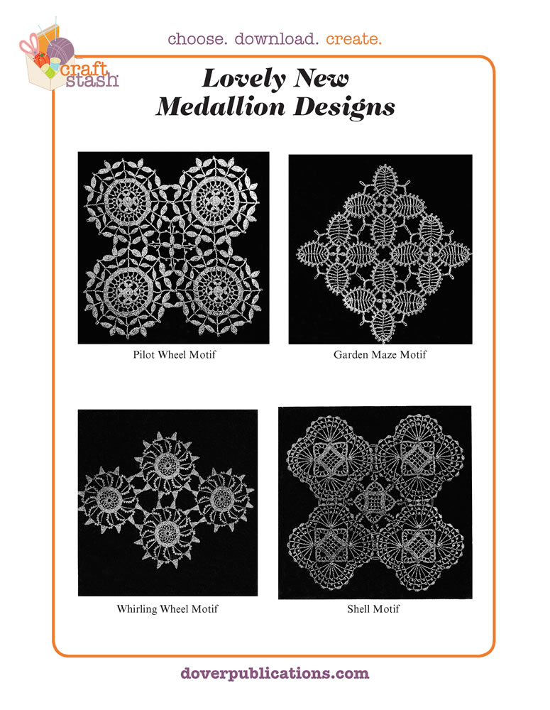 Lovely New Medallion Designs (digital pattern)