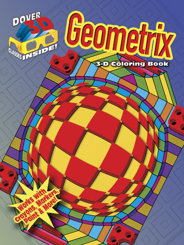 3-D Coloring Book - Geometrix