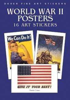 World War II Posters: 16 Art Stickers