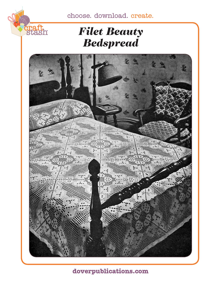 Filet Beauty Bedspread (digital pattern)