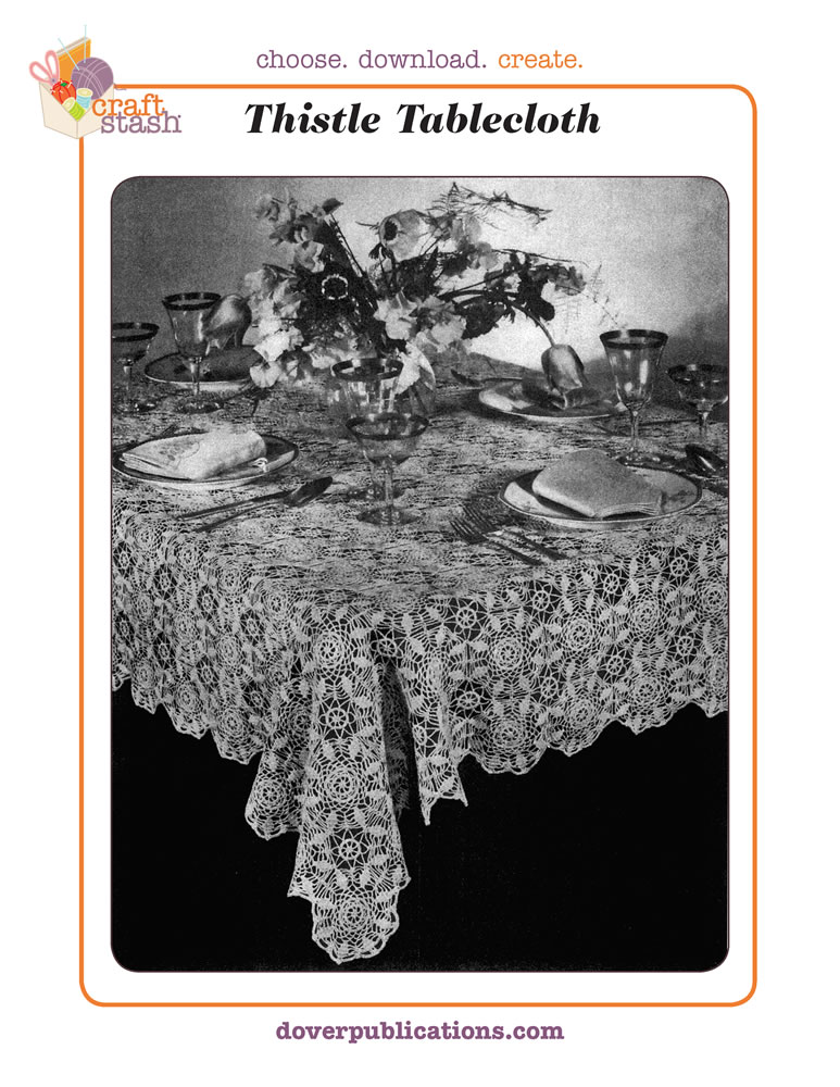 Thistle Tablecloth (digital pattern)