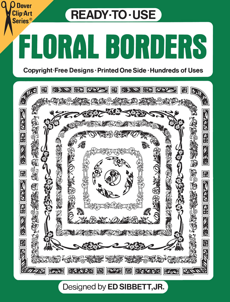 Ready-to-Use Floral Borders