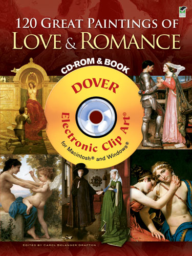 120 Great Paintings of Love and Romance CD-ROM and Book