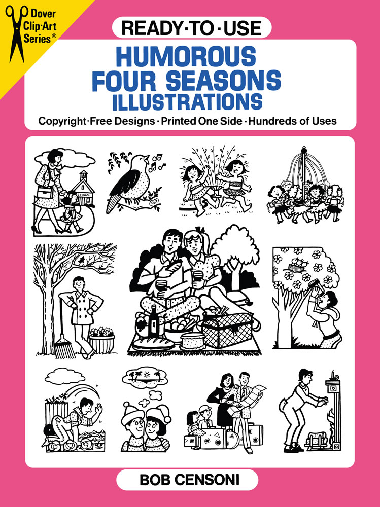 Ready-to-Use Humorous Four Seasons Illustrations