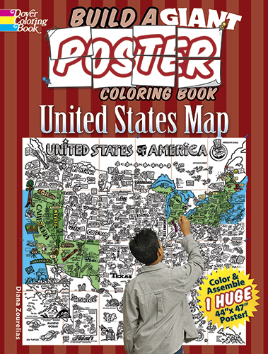 Build a Giant Poster Coloring Book -- United States Map
