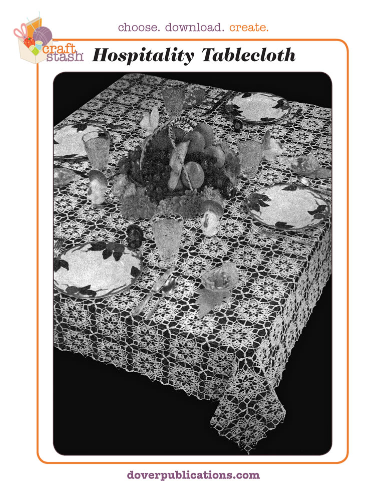 Hospitality Tablecloth (digital pattern)