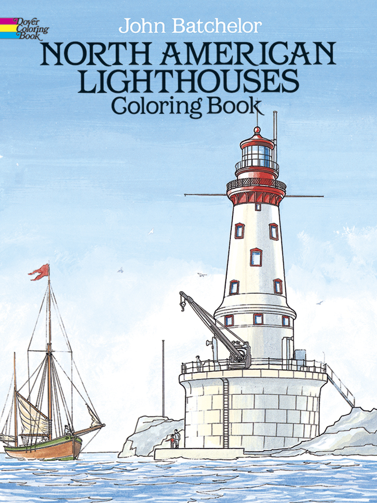 North American Lighthouses Coloring Book