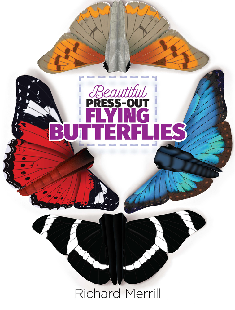 Beautiful Press-Out Flying Butterflies