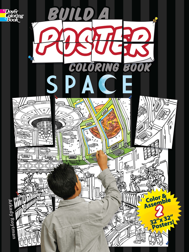 Build a Poster Coloring Book--Space