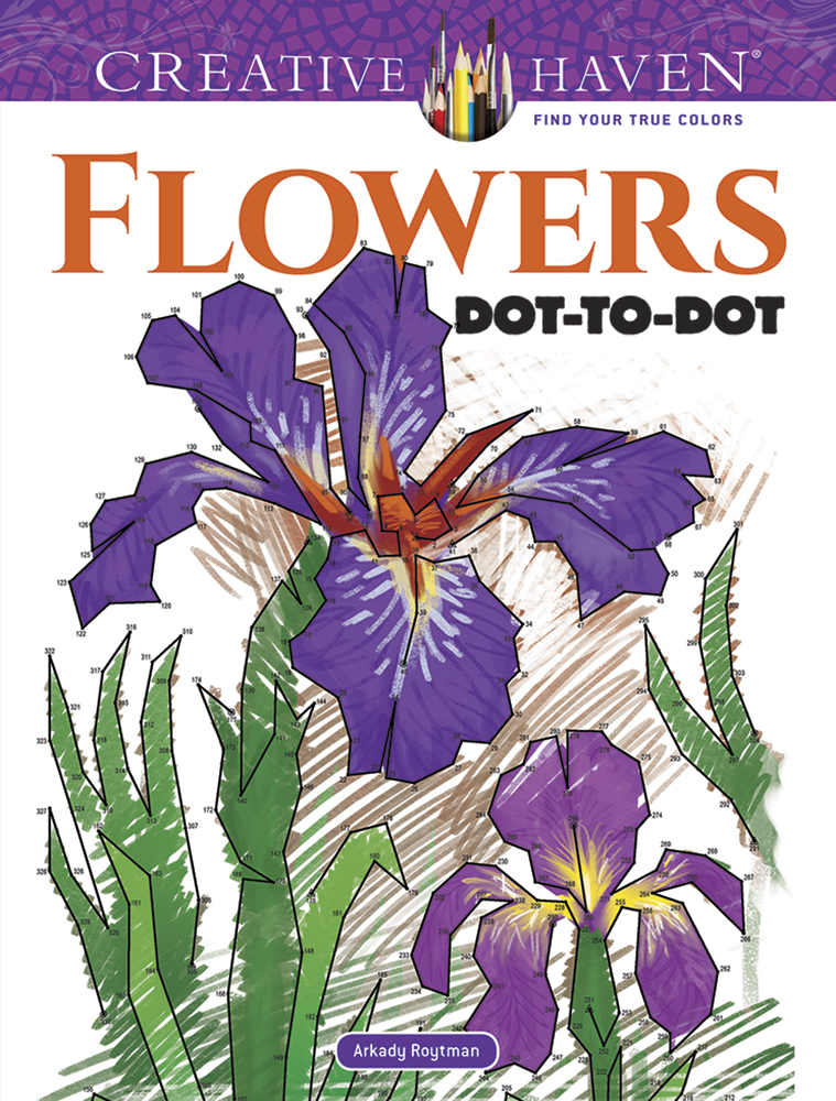 Creative Haven Flowers Dot-to-Dot Coloring Book