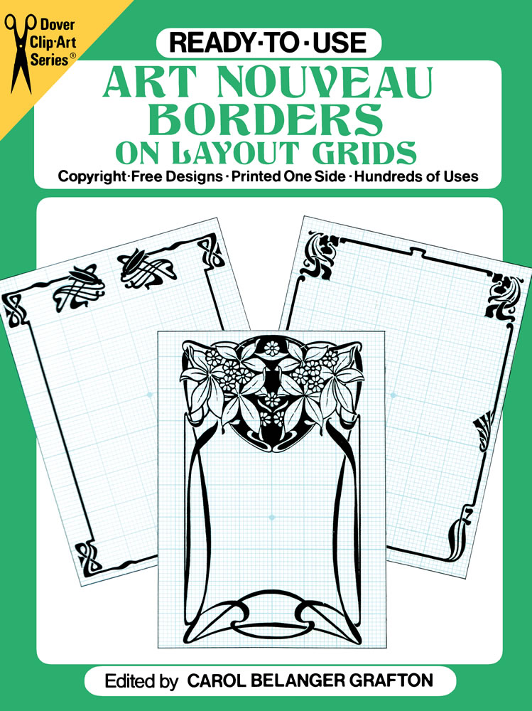Ready-to-Use Art Nouveau Borders on Layout Grids