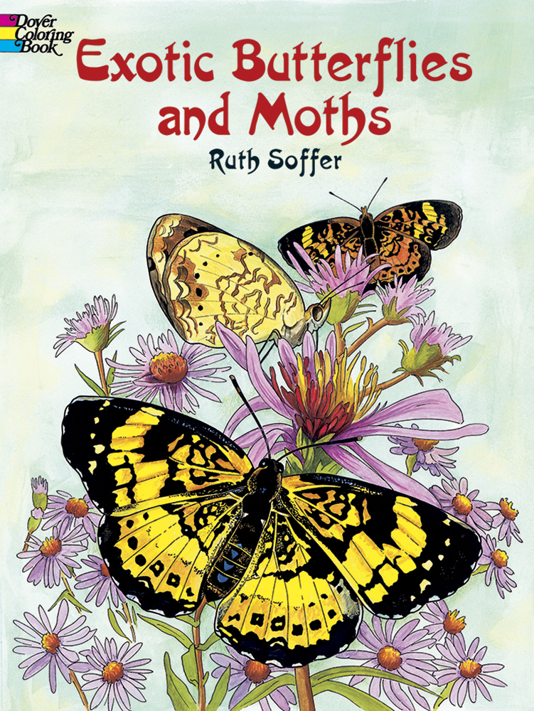 Exotic Butterflies and Moths Coloring Book