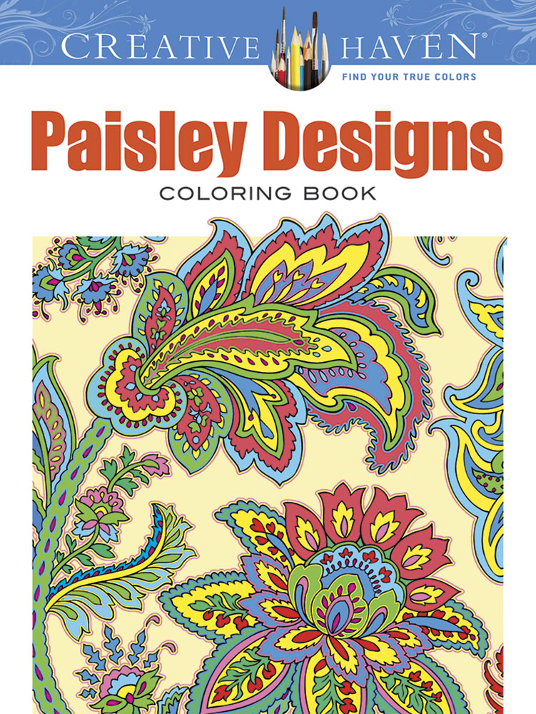 Creative Haven Paisley Designs Collection Coloring Book