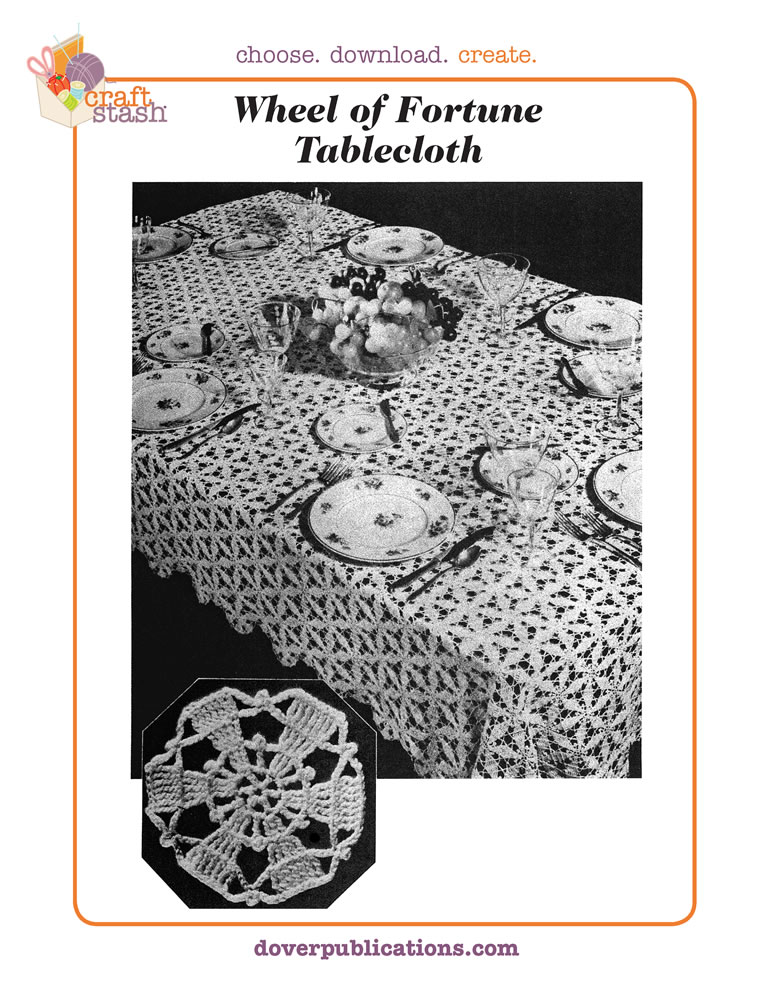 Wheel of Fortune Tablecloth (digital pattern)