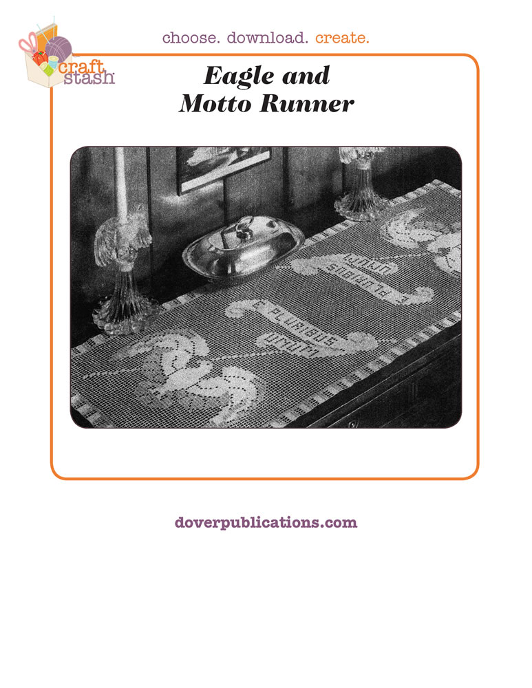 Eagle and Motto Runner (digital pattern)