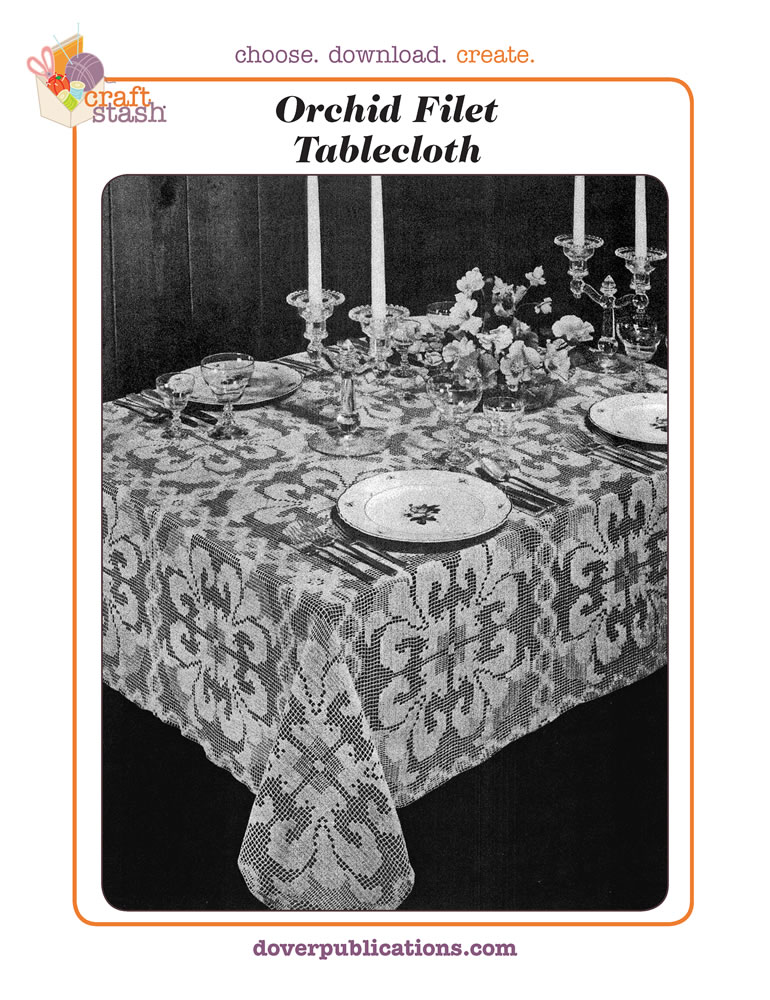 Orchid Filet Tablecloth (digital pattern)