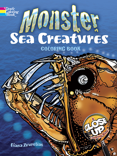 Monster Sea Creatures: A Close-Up Coloring Book