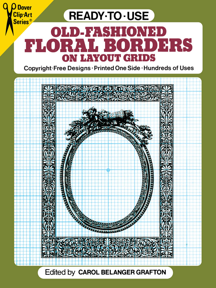 Ready-to-Use Old-Fashioned Floral Borders on Layout Grids
